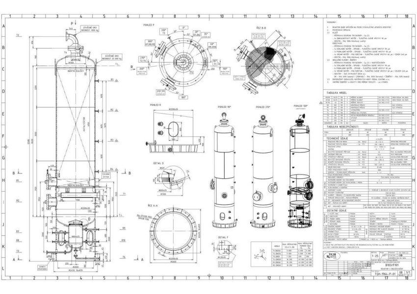 Reaktor do chemického provozu